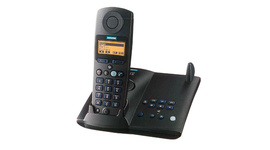 hands-free function and illuminated display for DECT phones