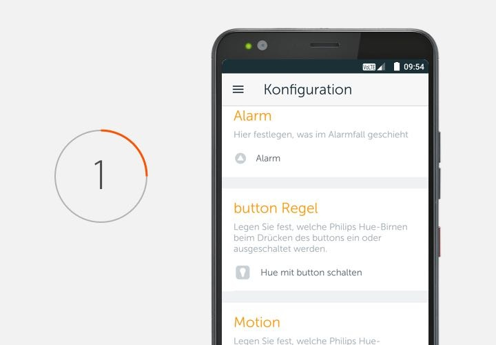 Konfiguration Alarm Button