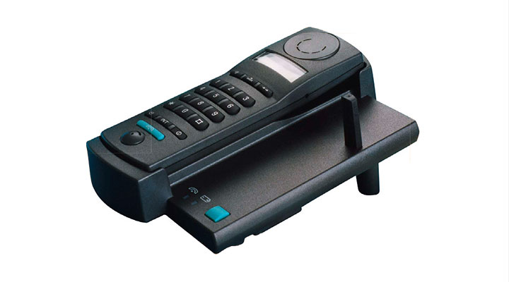 The first compact and cordless DECT phone for the home.